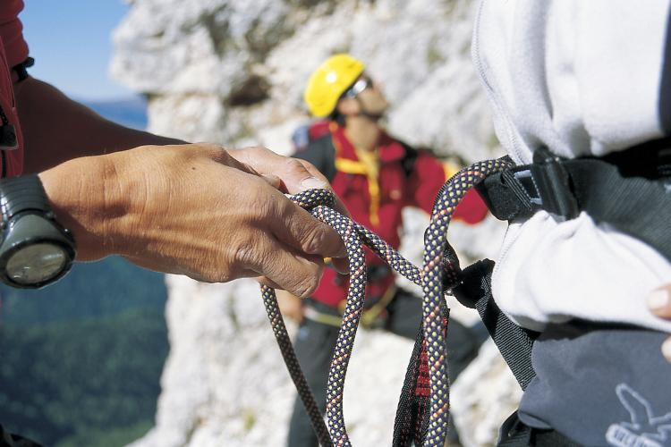 Alpine and sport climbing in the Dolomites