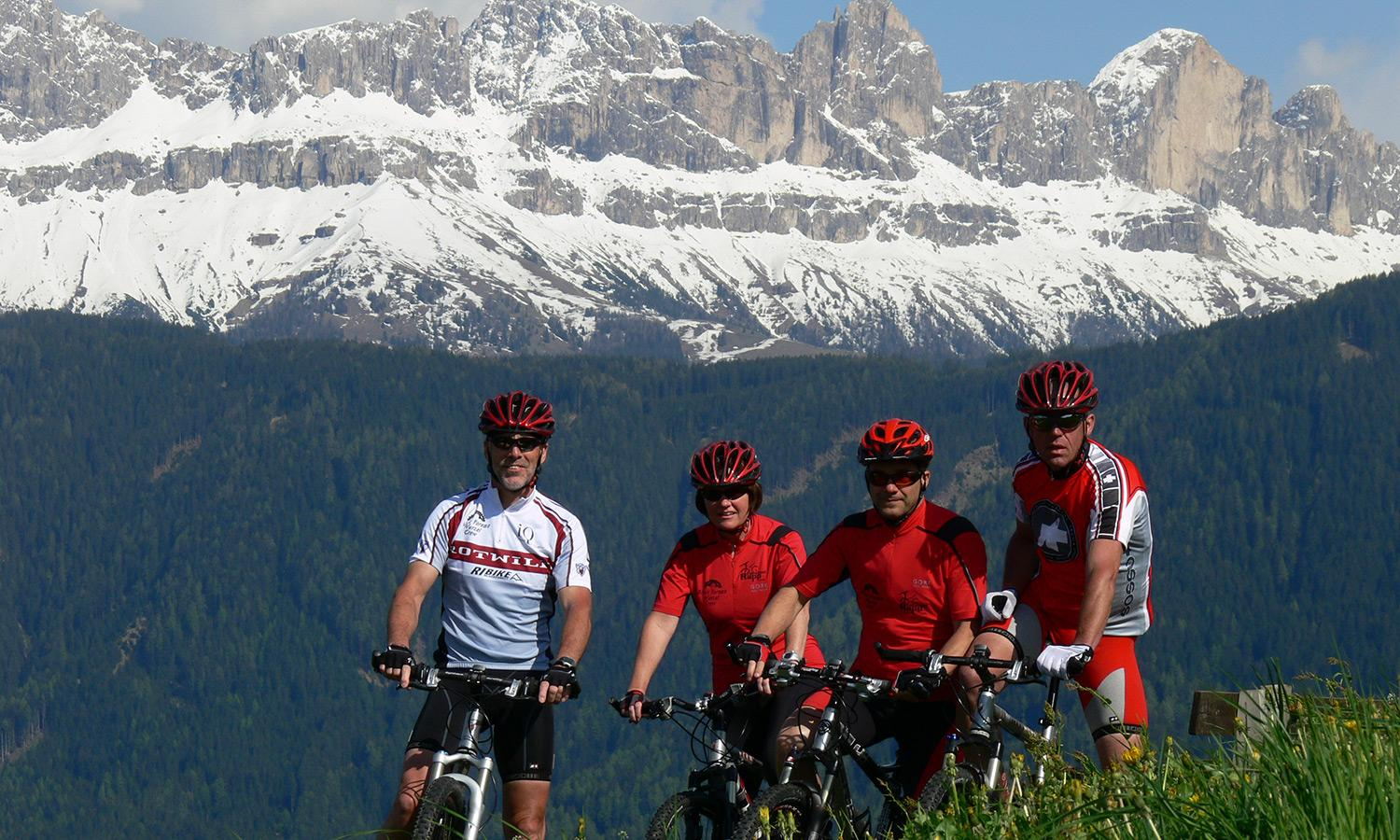Mountain biking in the South Tirolean Dolomite Alps