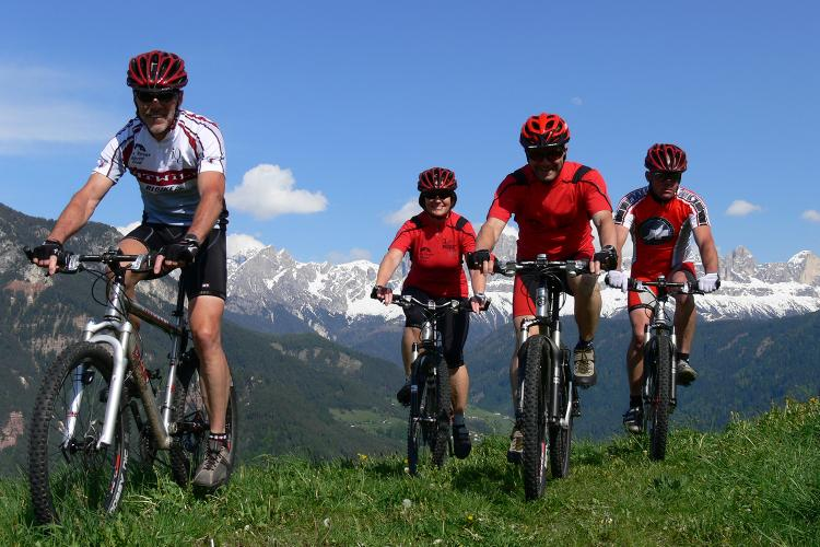 Mountain bike tours in the Dolomites